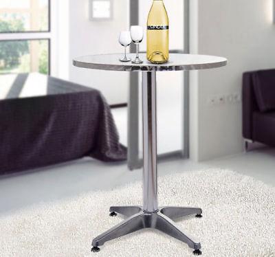 HomCom Modern Round Bar Table Adjustable Bistro Pub Counter