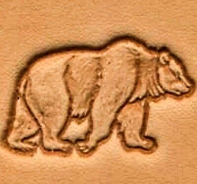 3D WALKING BEAR LEATHER STAMP 88304-00 Tandy Craftool Stamping Tool Stamps Tools