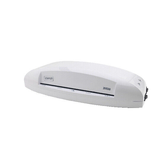 """Staples Thermal & Cold Laminator, 9.5"""" Width, White 26530 - NEW Sealed In Box"""