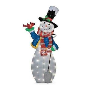 Sale 4 foot outdoor lighted pre lit christmas snowman for Outdoor christmas yard decorations sale