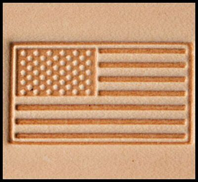 AMERICAN FLAG LEATHER STAMP 8580-00 Tandy Tool America USA Flags Stamps Tools