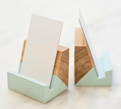 Reclaimed Pine Vertical Business Card Holder