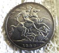 Queen Victoria 1897 Silver Crown