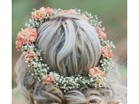 Drayed flower crown/ Bridal accessories £40 or nearest offer