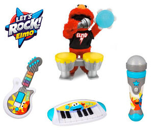 Let's Rock Elmo, Microphone and Let's Rock Cookie Monster Keyboa
