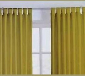 Curtains Tab Top & Ring Top. Sandown and Bourne. Leaf Green.