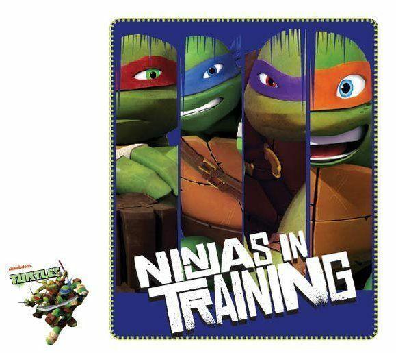 Ninja Turtles Fleecedecke Kuscheldecke 120 x 140 Tagesdecke NEU !