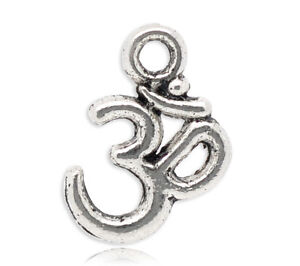 100 Om Aum Ohm Hindu Buddhist Sacred knowledge symbol charm pendants