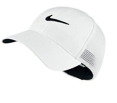 44e172482b8 New 2016 Nike Legacy 91 Tour Mesh Fittted Cap Hat Size Med Large Color White