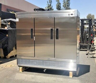 New 80 Commercial 3 Door Reach-in Refrigerator Model 83r Nsf Stainless Fridge