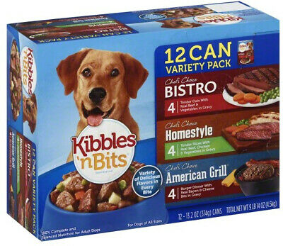 Kibbles n Bits Chefs Choice Beef Chicken Bacon Wet Dog Food