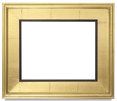 CLASSIC MODERN STYLE PICTURE PAINTING FRAME PLEIN AIR WOOD GOLD BLACK 3.25