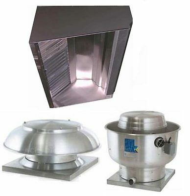 Superior Hoods S5hp 5ft Restaurant Hood System W Make-up Air Exhaust Fans