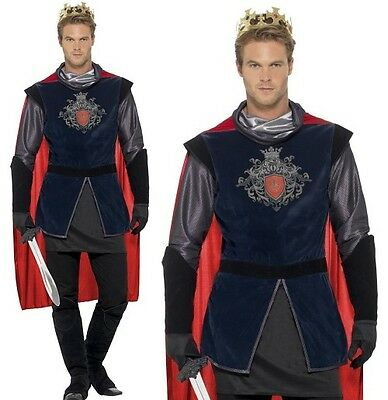 Mens King Arthur Fancy Dress Costume Historical Knight Outfit by Smiffys