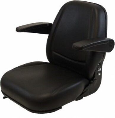 High Back Black Seat For Forklift Skid Loader Backhoe Dozertelehandler Ta