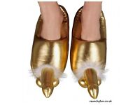 funny novelty gold slippers