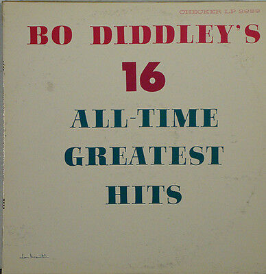 Bo Diddley  16 All Time Greatest Hits Black Checker Lbl Lp