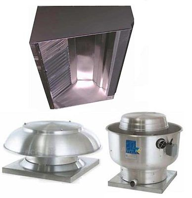 Superior Hoods S8hp-qs 8ft Restaurant Hood System W Make-up Air Exhaust Fans