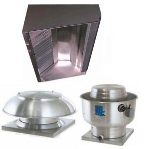 Superior Hoods 8ft Restaurant Hood System w/ Make-Up Air & Exhaust Fans - S8HP-Q