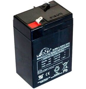 Replacement 6V 4AH Rechargeable Battery for Silverline Torch and others Leoch