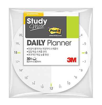 5 Packs x 3M POST-IT Study Mate DAILY PLANNER CIRCLE Scheduling Sticky Notes