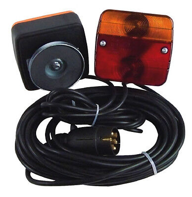 3 Funktions Anhänger Beleuchtung Beleuchtungssatz mit 7,5m Kabel und Magnet !