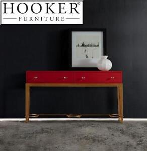 NEW HOOKER FURNITURE CONSOLE TABLE 638-85313-RED 160570749 MELANGE LADY RED