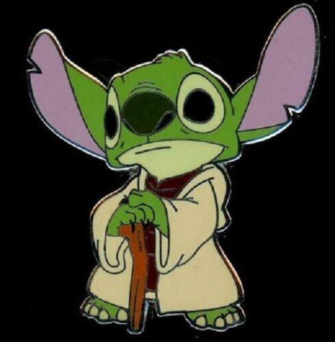 Disney Lilo & Stitch Star Wars Mystery Pin Collection Stitch as Yoda pin