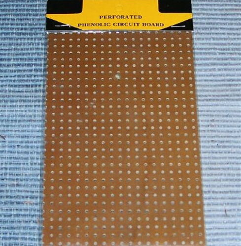 - PHENOLIC - board perforated vacuum tube radio vintage prototype breadboard NOS