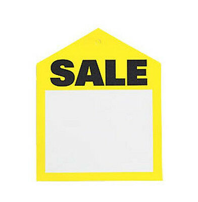 25 Yellow Oversized Large Sale Price Tags Labels 3-14 X 4 Pre-punched Hole