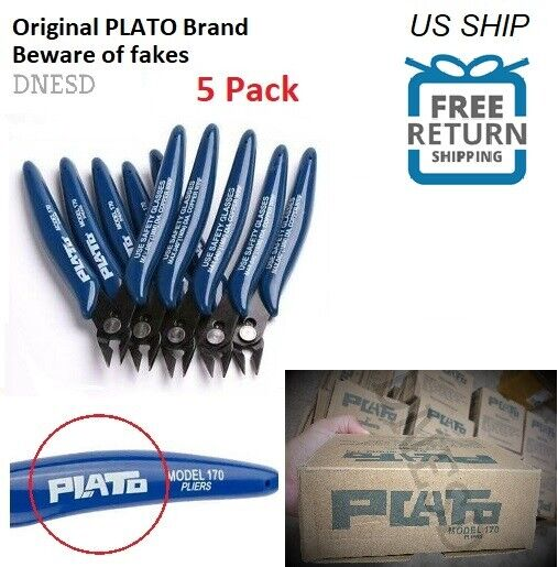 5 Pack 170 Flush Wire Cutter Blue Diagonal Cutting Pliers Si