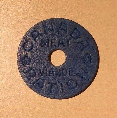 Canada WW2 Meat Ration Tokens
