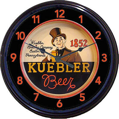Kuebler Beer Tray Wall Clock Easton PA Ale Lager Pilsener Man Cave Pub New 10""