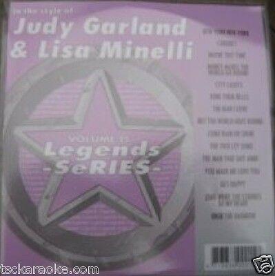 Liza Minelli Judy Garland Legends Karaoke Cdg 15 Songs Over The Rainbow Cabaret