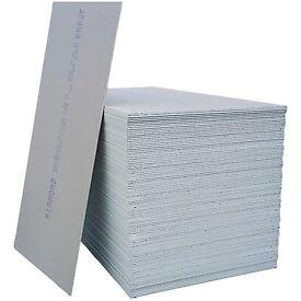 Standard sheets of plaster board