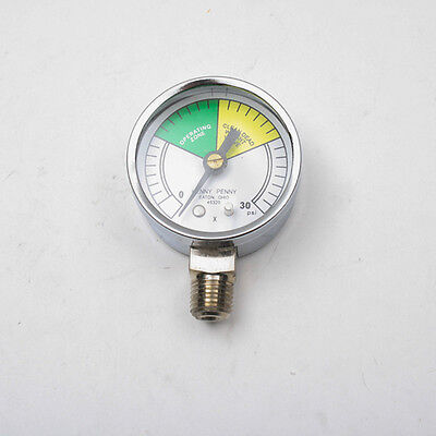 Pressure Gauge - 2 Dial0-30 Psi 14 Mpt For Henny Penny - Part 16910
