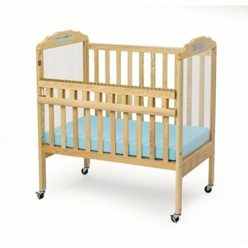 Environments Safe-T-Side Clear View Baby Crib Bed Natural ENVCRB1F