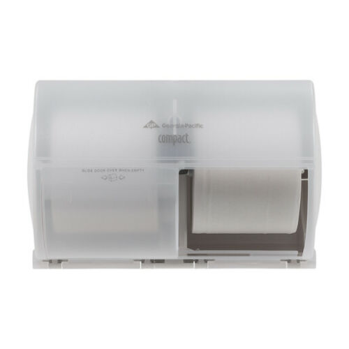 Compact 56797 Coreless High-Capacity 2-Roll Side-By-Side Toilet Paper Dispenser