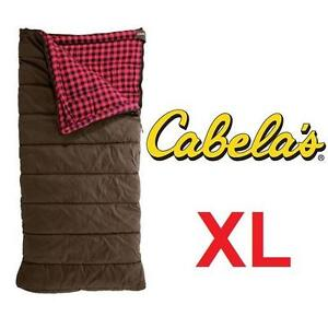 NEW CABELA'S SLEEPING BAG XL 0 F - 119984727 - RATED  0 F-TWO LAYER- COTTON FLANNEL