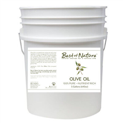 Best of Nature 100% Pure Olive Oil Massage & Body Oil - 5 Gallon Pail