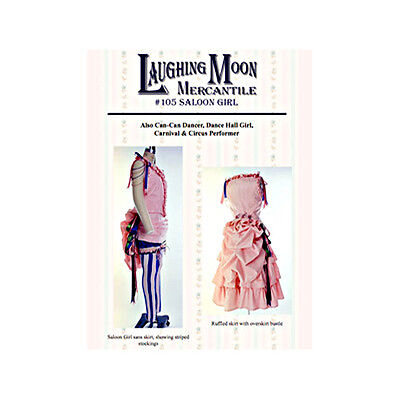 Laughing Moon: Saloon Girl Patterns (Bodice, Skirts, Overskirts, Stockings, Hat)