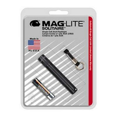 Aaa Cell Maglite Flashlight - MagLite ML20168 Solitaire Single AAA Cell Black Incandescent Flashlight