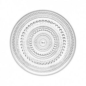 Iittala-Kastehelmi-Glass-Plate-Clear-248mm-Oiva-Toikka-Home-Decor-Finnish-Design