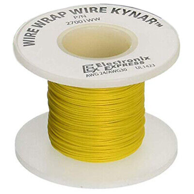 Wire Wrap Solid Kynar Wire 30 Gauge Yellow 100 Feet