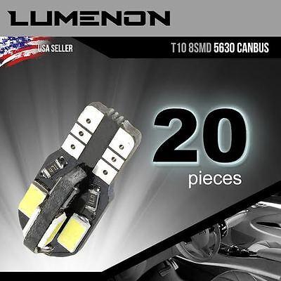 T10 Canbus Error Free Wedge 8 Smd White 5730 Led Light W5w 2825 158 192 168 194