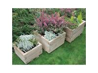 Set of 2 wooden planters (modern finish)