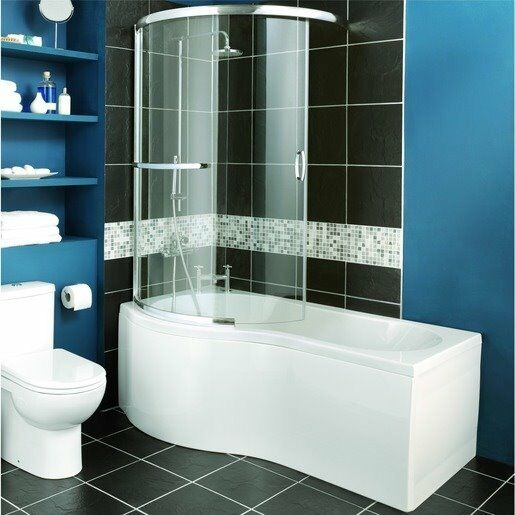 New Wickes White Bath Suite Chrome Waterfall Taps Amp Mixer