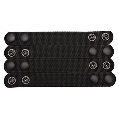 """Bianchi 31304 Black Nylon PatrolTek 1"""" Wide Belt Keepers Black Snaps (4 Pack)"""