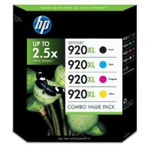 hp 920 xl ink cartridges pack for hp officejet 7500 6000 6500 7000 6500a 7500a ebay. Black Bedroom Furniture Sets. Home Design Ideas