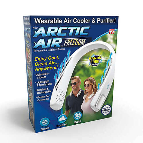 Arctic Air Freedom Portable Personal Air Cooler Neck Cool Fan Hands Free Cooling
